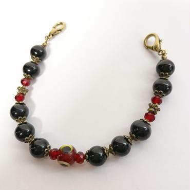 Phantom Jewelry/ファントムジュエリー 化け物の棲む羽織紐(黒パール×赤)