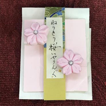 緋紋華/ひもんか ねりきり桜イヤリング