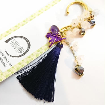 Phantom Jewelry/ファントムジュエリー 三途の川の向こう側イヤーフック(紫タッセル)