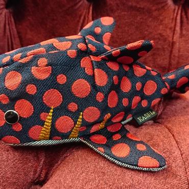 KASEI/かせい タタミベリサメ 紺×赤水玉176