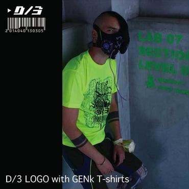 D/3/ディースリー LOGO with GENk(sweetrubberberry) T-shirts (ロゴ ウィズ ゲンキ(スィートゥルバーベリー)Tシャツ) F.Yellow×BLACK