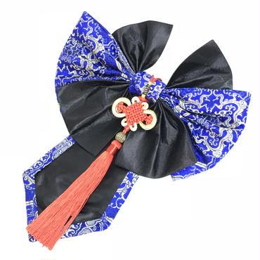 estrelleas/エストレージャス  蝶結絢爛装飾髪帯 ブルー系B