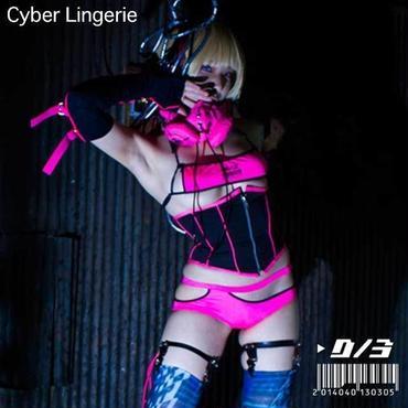 D/3/ディースリー サイバーランジェリー 蛍光ピンク (ブラパンツセット) Cyber lingerie NEON PINK