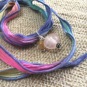 Silk Chiffon Bracelet - シルクシフォンブレスレット - タイガーアイ - 005