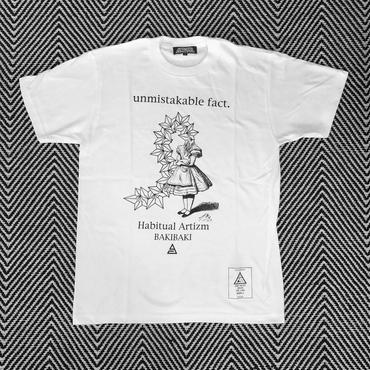 "BAKIBAKI x ANARC ""unmistakable fact."" TEE ( WHITE  )"