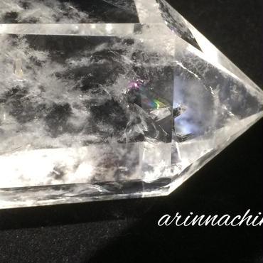 ヒマラヤ産レインボー水晶六角柱