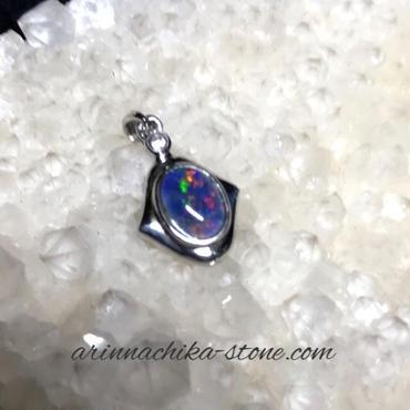 宝石質オパールペンダントトップ sv925