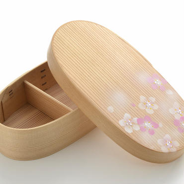 Bento Box だえん弁当箱 スリム アート入 Amd01-Slim