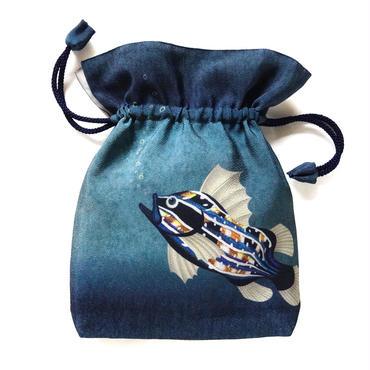 No.15 KSB★2WAY   Shoulder Bag KINCHAKU 【Bubbles Tone】巾着ショルダーバッグ【あぶくの音色】   [内ポケット+ビニールポーチ付]