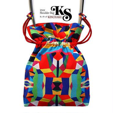 No.26 KSB-B★2WAY Shoulder Bag KINCHAKU 【 Hellow, Vivia! B 】巾着ショルダーバッグ  [内ポケット+ビニールポーチ付] Amazonで1点販売中
