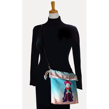 No.50 KSB★2WAY   Shoulder Bag KINCHAKU 【Fox's wedding】巾着ショルダーバッグ【狐の嫁入り】[内ポケット無しビニールポーチ付]