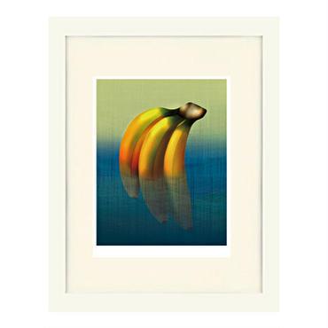 No.130★【 水中バナナ 】 額装ジークレー版画(デジタルリトグラフ)