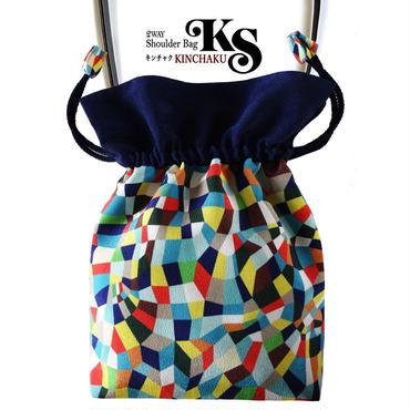 No.28 KSB★2WAY   Shoulder Bag KINCHAKU  【Ciao,Vivia】 巾着ショルダーバッグ【 チャオヴィヴィア!】[内ポケット+ビニールポーチ付]
