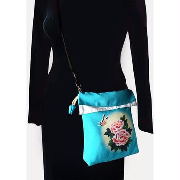 No.37 KSB★2WAY Shoulder Bag KINCHAKU【Air Turquoiseblue】[ポケット無しビニールポーチ付]