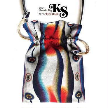 No.10 KSB-P★2WAY Shoulder Bag KINCHAKU 【Evening Calm穏やかな夕べ】Party bag & Dayly!   [内ポケット無しビニールポーチ付]