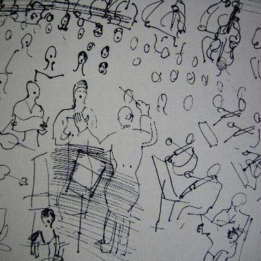 SALE  在庫整理処分!ラウル・デュフィのリトグラフ 「オーケス トラ」  コンディション良好 :送料無料