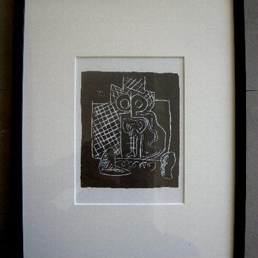 20世紀建築界の巨匠、ル・コルビュジェのリトグラフ :送料無料