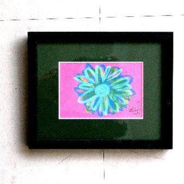 #2 注目の現代アート作家・今井アレクサンドルのクレヨン画「花」  :売却済み