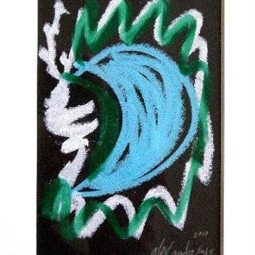 #4 注目の現代アート作家・今井アレクサンドルのクレヨン画 「月」?