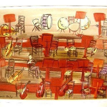 *5日間限りのお試し価格  期末大処分!Raoul  Dufy ラウル・デュフィのリトグラフ  コンサート