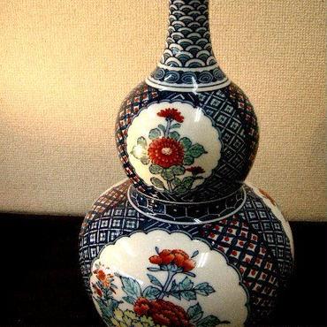 鍋島焼・瓢形花瓶 {新品}
