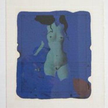 :PAUL WUNDERLICH  ポール ヴンダーリヒ  西ドイツの幻想画家ーリトグラフ  「青のトルソー」   値下げいたしました :売却済み