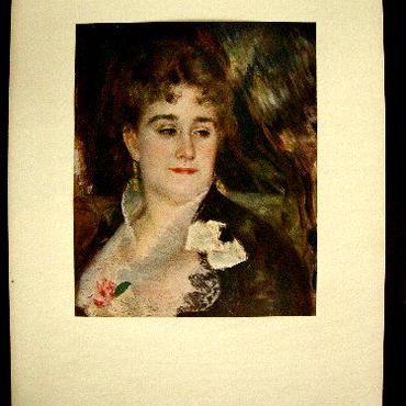 c:アンティーク・シート 1920年制作 初期カラー印刷された絵が台紙に貼られたオリジナルシート。
