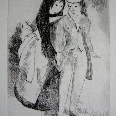 h-マリー・ローランサン 銅版画