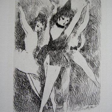 SALE  在庫整理処分!マリー・ローランサンの銅版画 :送料無料