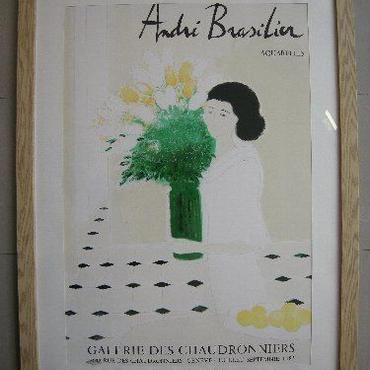 ブラジリエ  リトグラフポスター 額入り 1983年