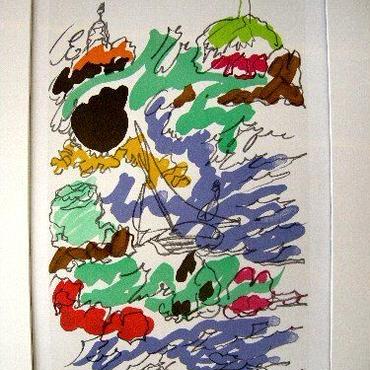 Charles  Lapicque シャルル・ラピック のリトグラフ ラウル・デ    ュフィ へのオマージュ