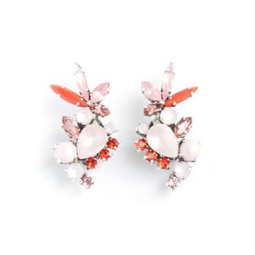 SCARAB16E14  Earrings  (PINK)