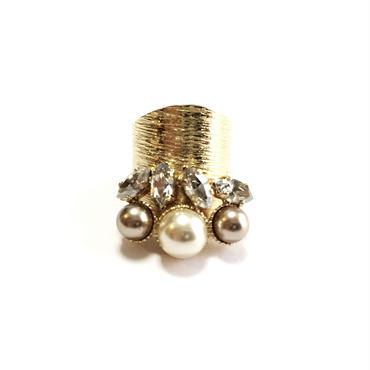 ILIADE Ring (Crystal Gold)
