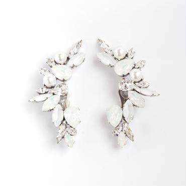 SCARAB16E62  Ear Cuff Paire (WEDDING WHITE)