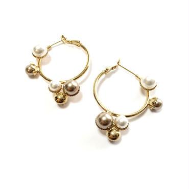 NAUSICAA Hoop Earrings (Crystal Gold)