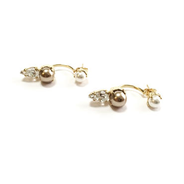 EOLE Swing Earring (Crystal Gold)