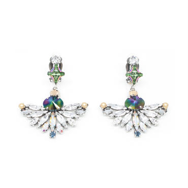 CAPENSIS Earrings Clip +S30 Stone(Silver)