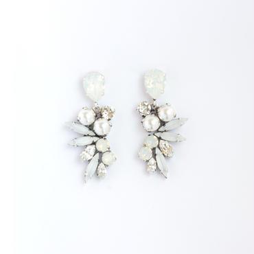 SCARAB  Earrings  (WEDDING WHITE)
