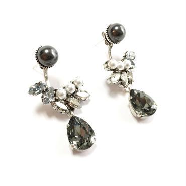 PHEDRE Swing Earrings (Grey Silver)