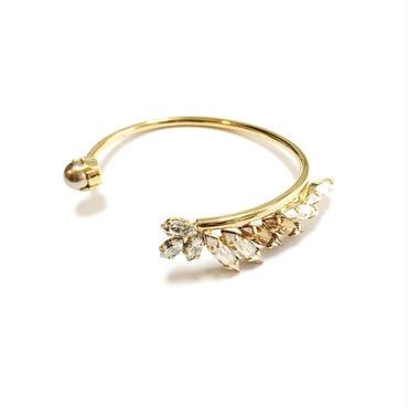 SOL Cuff Bracelet (Crystal Gold)
