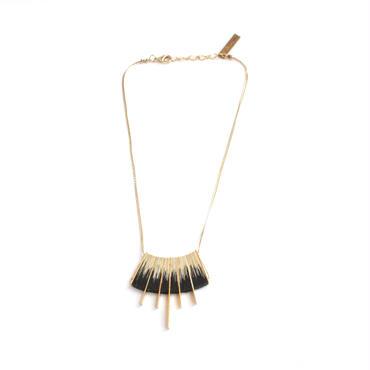 Kilim shibori Necklace (Shibori/Gold)