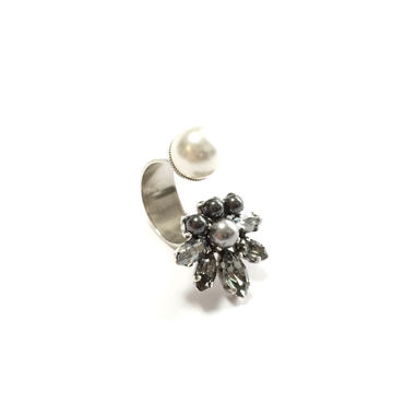 PENELOPE Open Ring (Grey Silver)