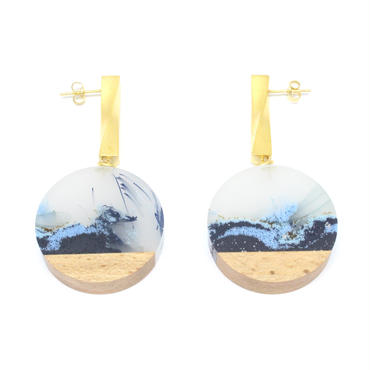 Full Moon Twist Disc Earring