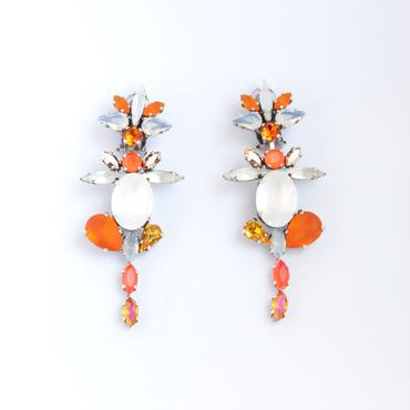 SCARABAEUS  Earrings  (ORANGE)
