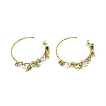 KNIGHT Pierced Hoop Earrings