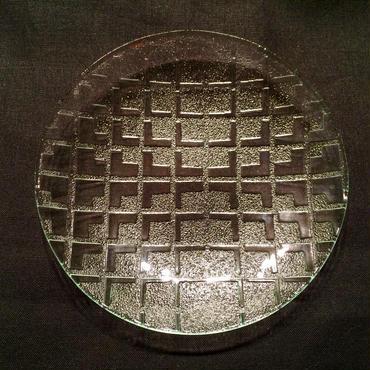 昭和型ガラス「みやこ」 皿 円形 小(Φ120mm)