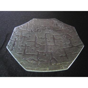昭和型ガラス「さらさ」 皿 八角形 中(Φ150mm)