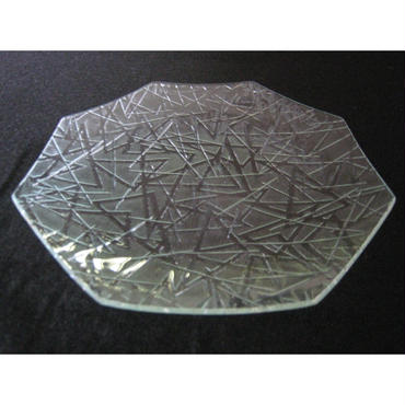 昭和型ガラス「まつば」 皿 八角形 中(Φ150mm)