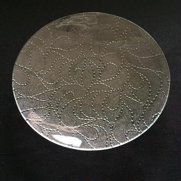 昭和型ガラス「スゥイートピー」 皿 円形 小(Φ120mm)