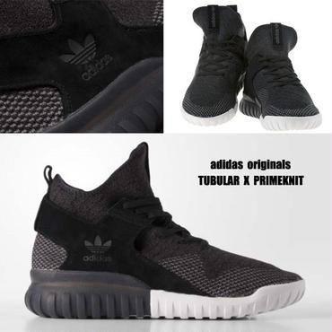 adidas★TUBULAR X プライムニット 25.5~28cm★黒×ダークグレー